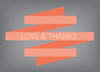 Retro Thank You Banner